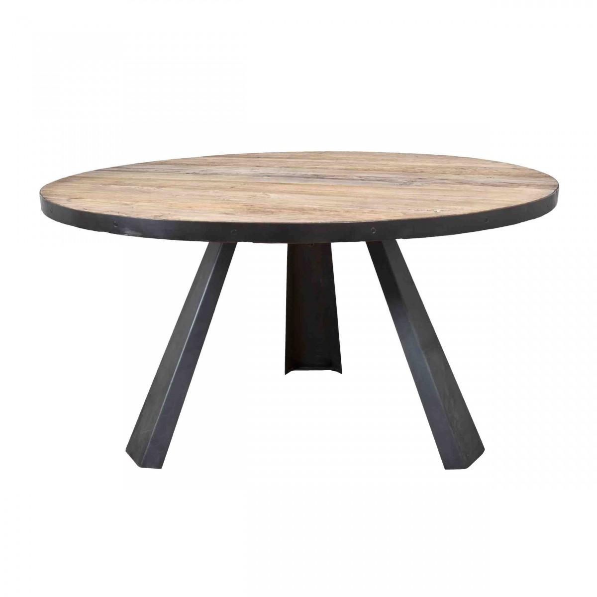 Metallfuß Tisch Rund.Elm Tisch Rund