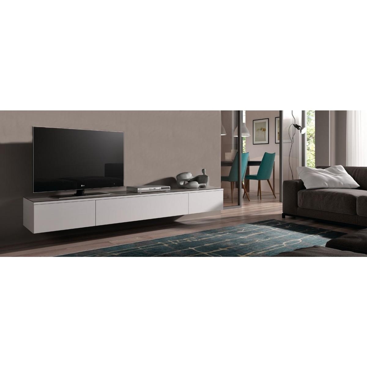 Hängend TV lowboard Float 221 cm | I Live Design