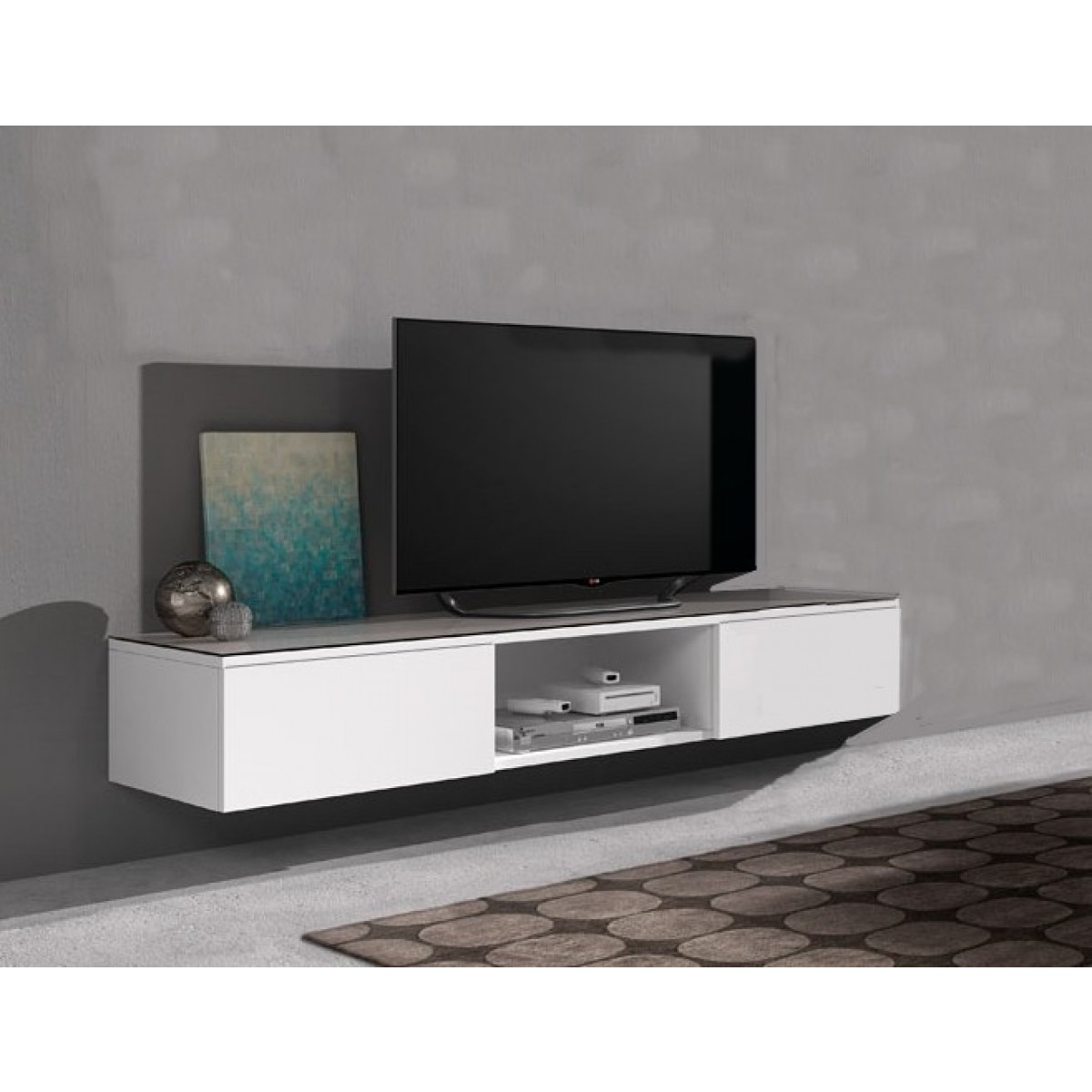 h ngend tv lowboard float 166 cm i live design preisg nstig online moebel kaufen. Black Bedroom Furniture Sets. Home Design Ideas