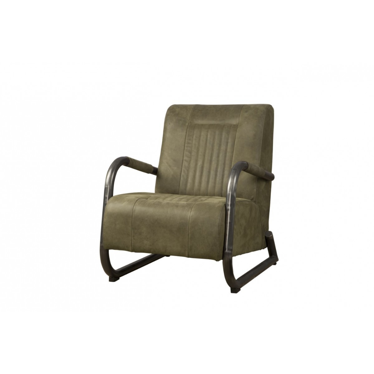 barn-coffeechair-fauteuil-vintage-leer-olive-lm0015