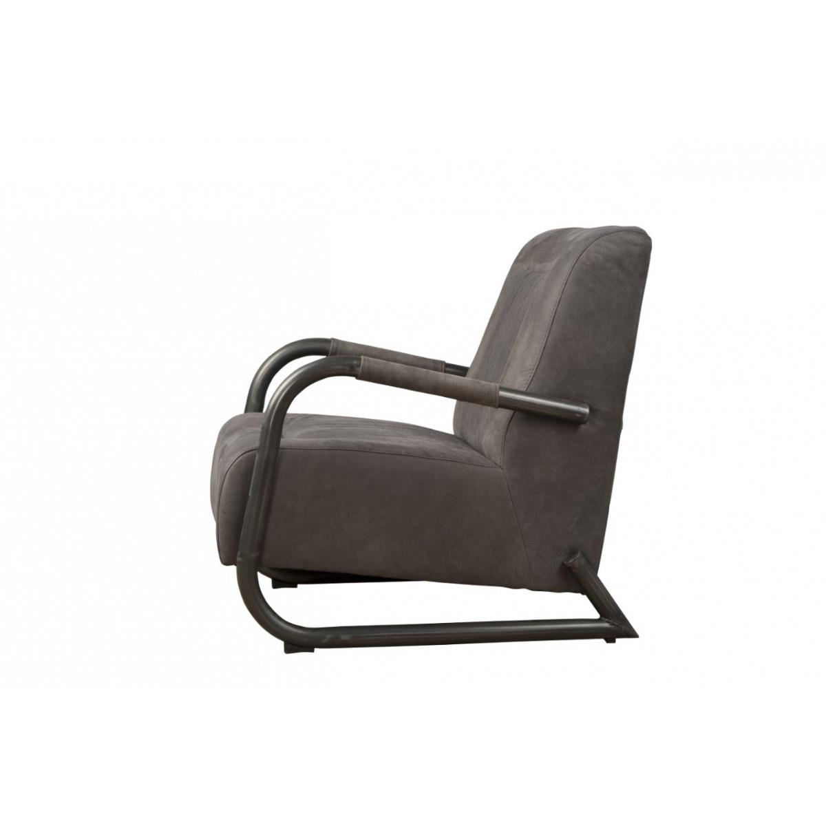 barn-coffeechair-fauteuil-vintage-leer-stone-lm0017-zijkant