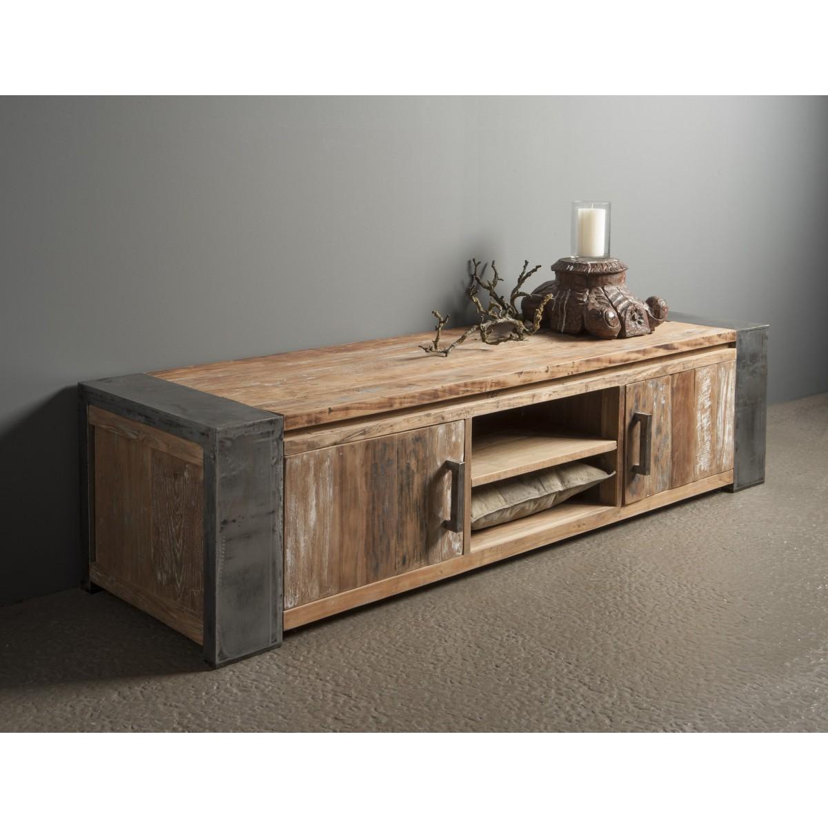 tv-dressoir-meubel-novara-teak-hout-metalen-poot-180-cm