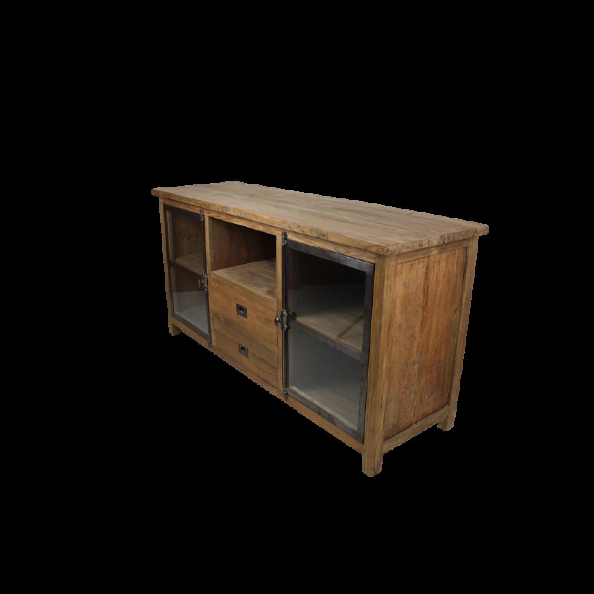tv-meubel-dingklik-teakhout-metaal-glas-KA-TD150D1