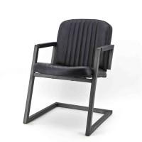 Zagreb-armstoel-armchair-rosi-leer-leder-donkergrijs
