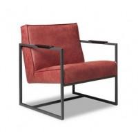 bibi-fauteuil-metaalframe-zwart-leer-leder-africa-theaterrood