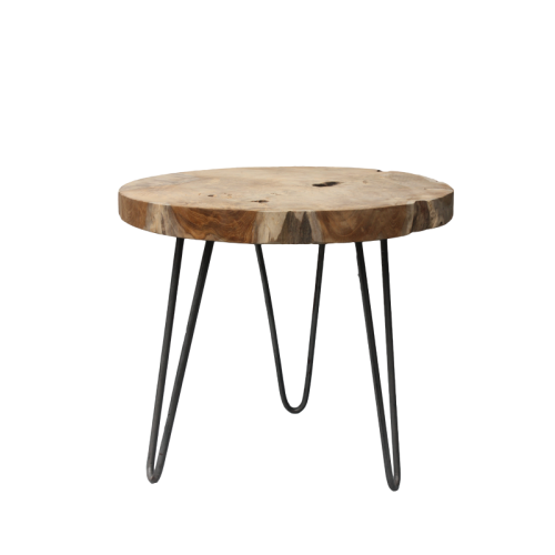 teak-root-table-rond-metaalframe