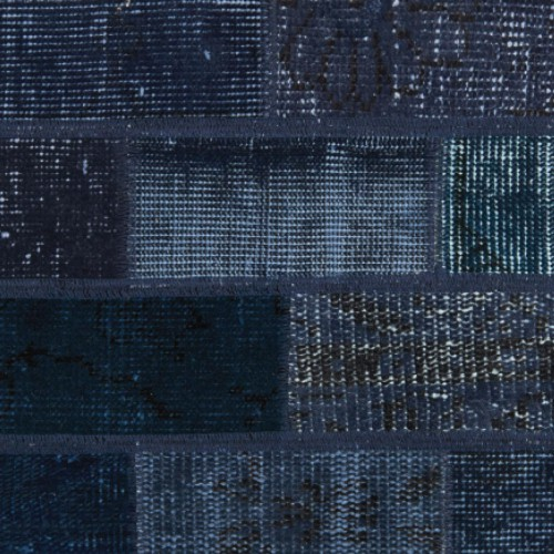 vintage patchwork vloerkleed dark blue